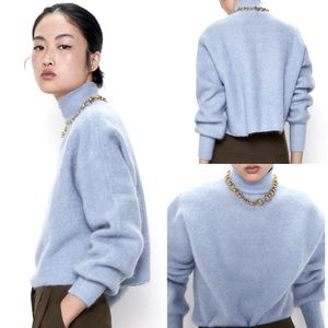 Zara Special Edition Mohair High Neck Sweater Med